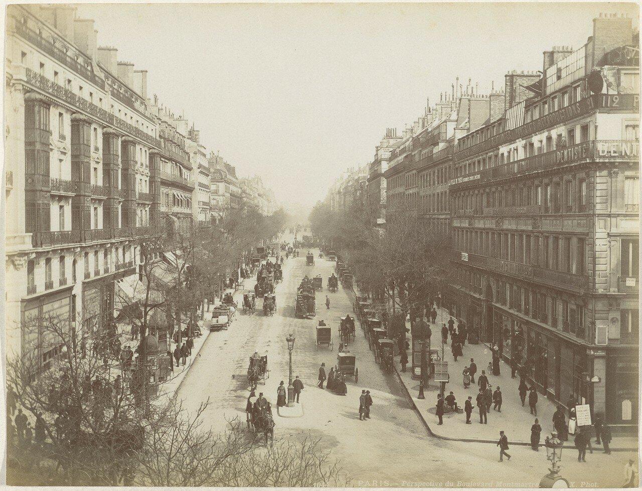 1850-е. Бульвар Монмартр