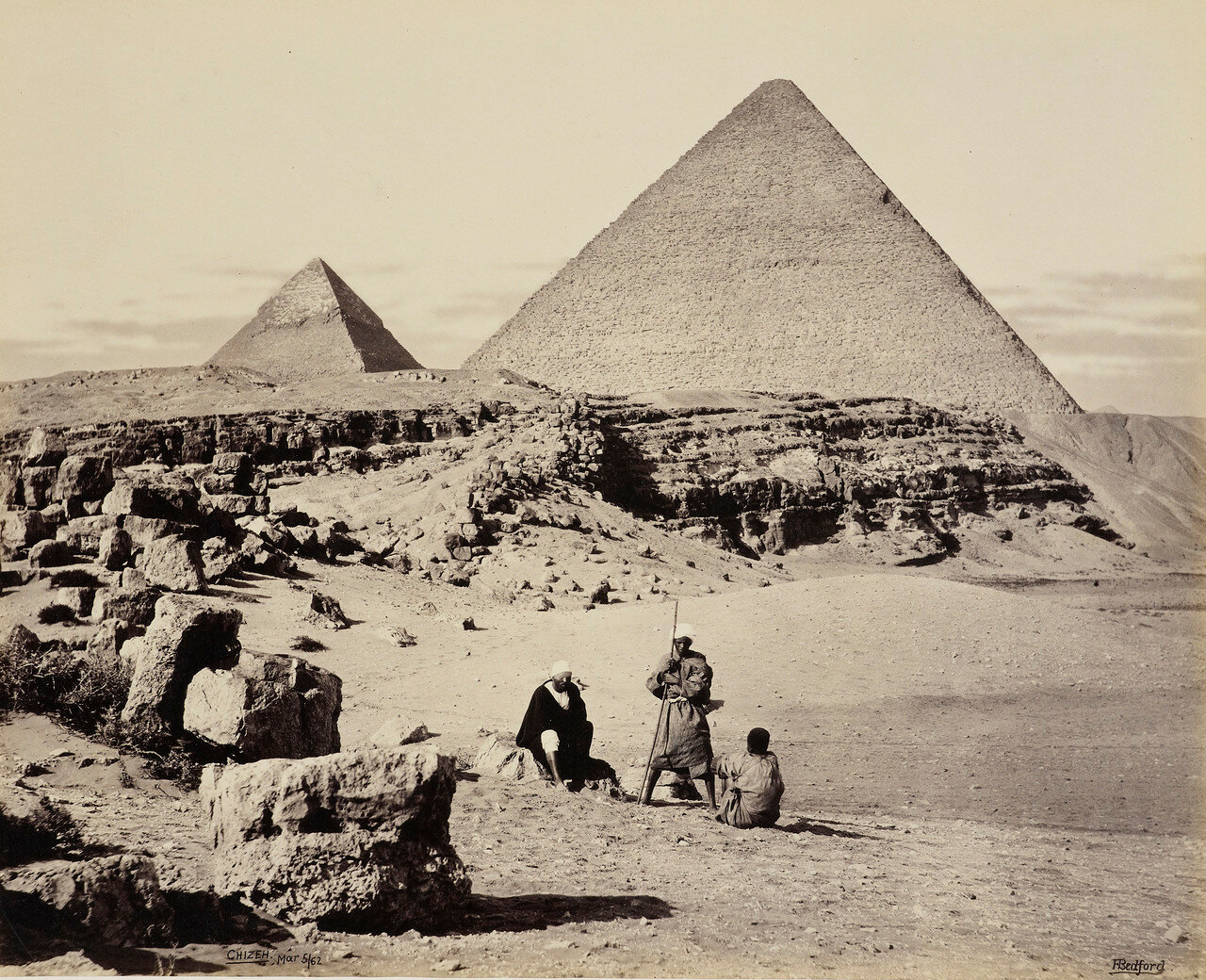 Гиза. Пирамиды Хеопса и Хефрена