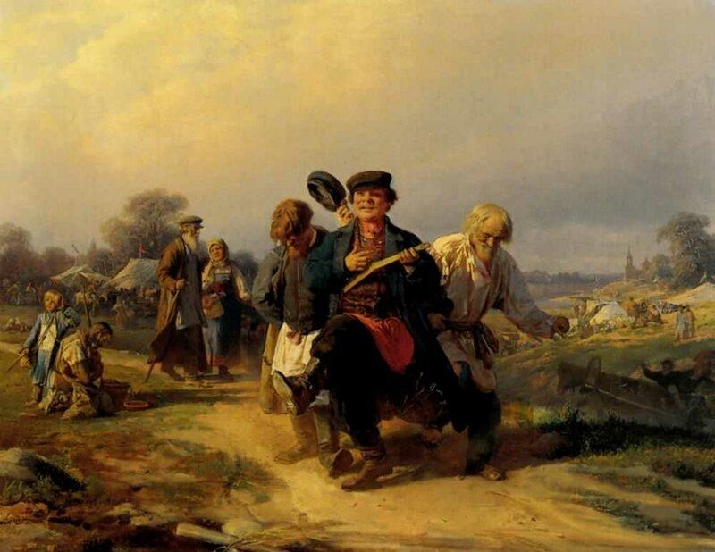 Корзухин Алексей Иванович. Возвращение с сельской ярмарки. 1868