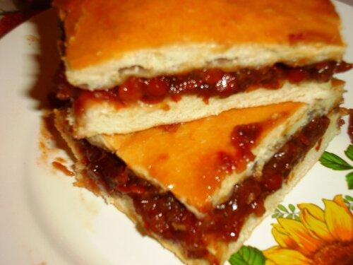 Татарский пирог с калиной рецепт