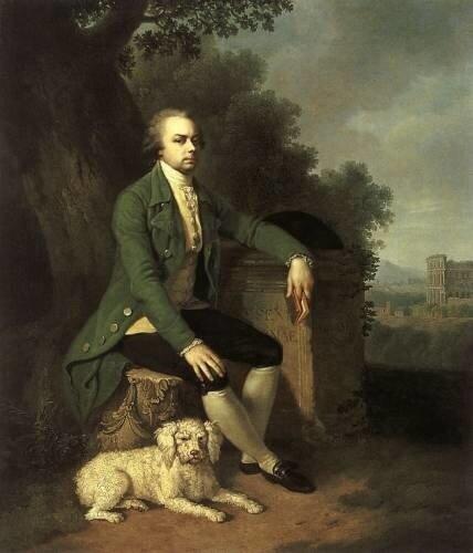 Портрет князя Н.Б. Юсупова с собакой (прапрадед Феликса Юсупова мл).