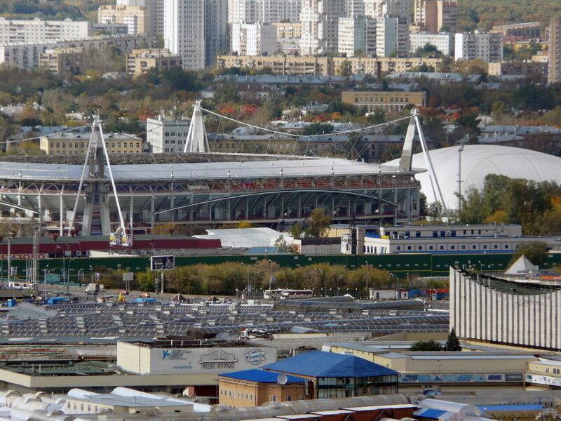 С крыши ЖК Измайловский
