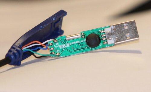 За это кабель вот такой у меня, белй RX на HDD, синий TX, черный GRND. д