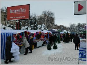 В Бельцах установлена главная Новогодняя ёлка