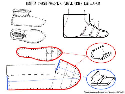 Как сшить средневековые ботинки 12