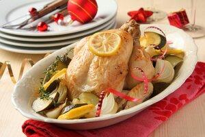 Курица с чесноком и лимоном для новогоднего меню