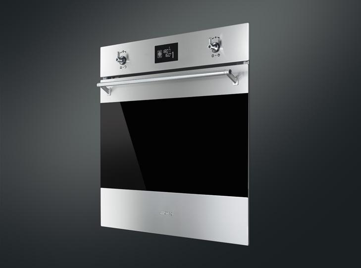 SMEG духовые шкафы Классика - красивый дизайн кухни с новой духовкой SMEG