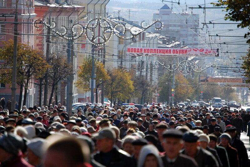 Митинг против отмены социального проездного