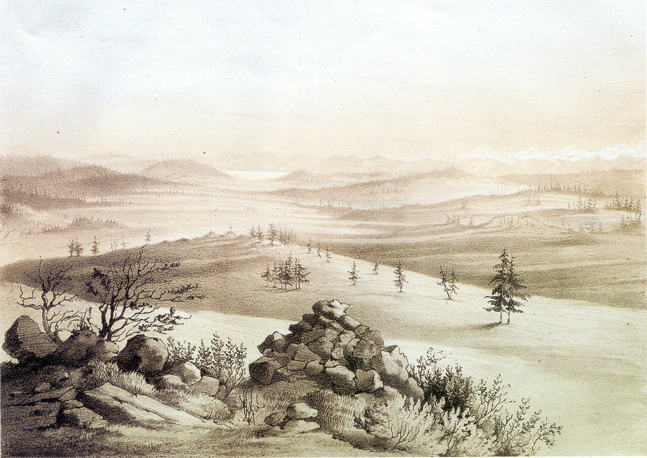 90 Вид озера Косогол (Хубсугул). А. Мюнстер с рис. Немровского. .jpg
