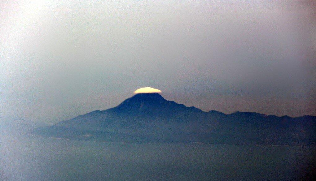 Гора Афон.Вид с самолета