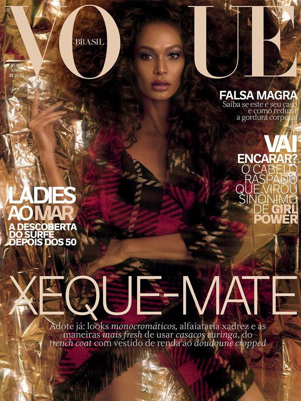 Supermodel Joan Smalls is the Cover Girl of Vogue Brazil June 2017 Issue