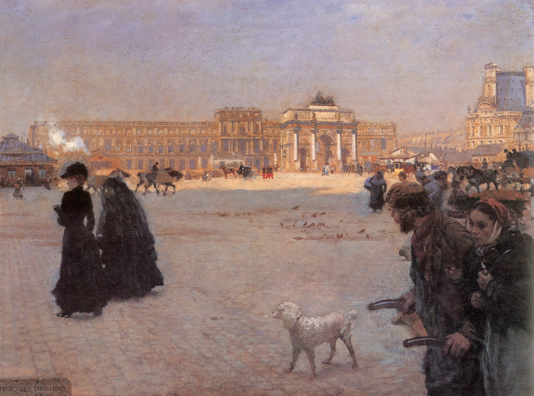2 Giuseppe de Nittis     The Place de Carrousel and the Ruins of the Tuileries Palace in 1882.jpg