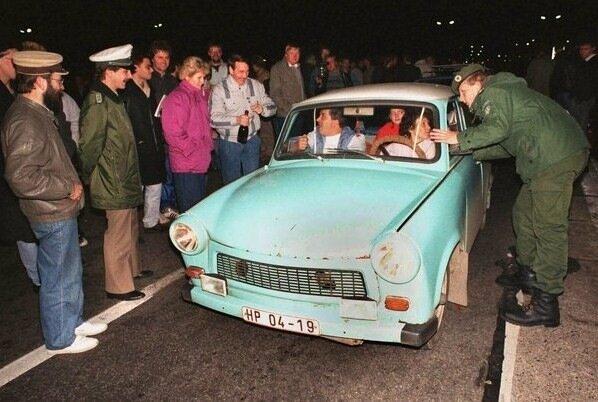 Inner German border opened - Helmstedt