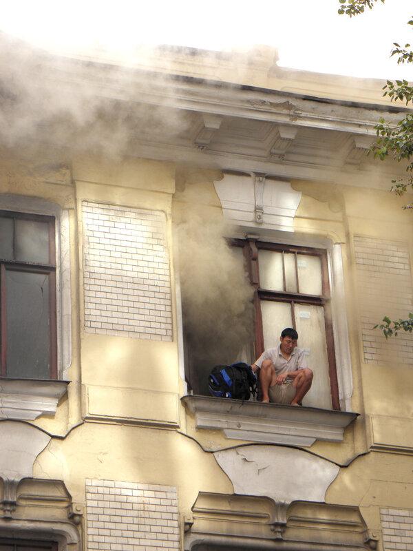 Пожар в доме Быкова. Фото Юлии Тимофеевой