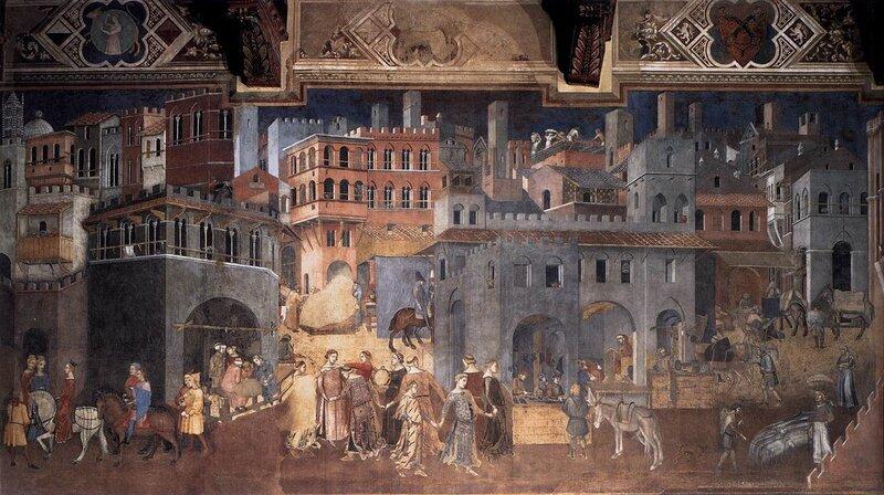 Амброджо Лоренцетти. Плоды доброго правления