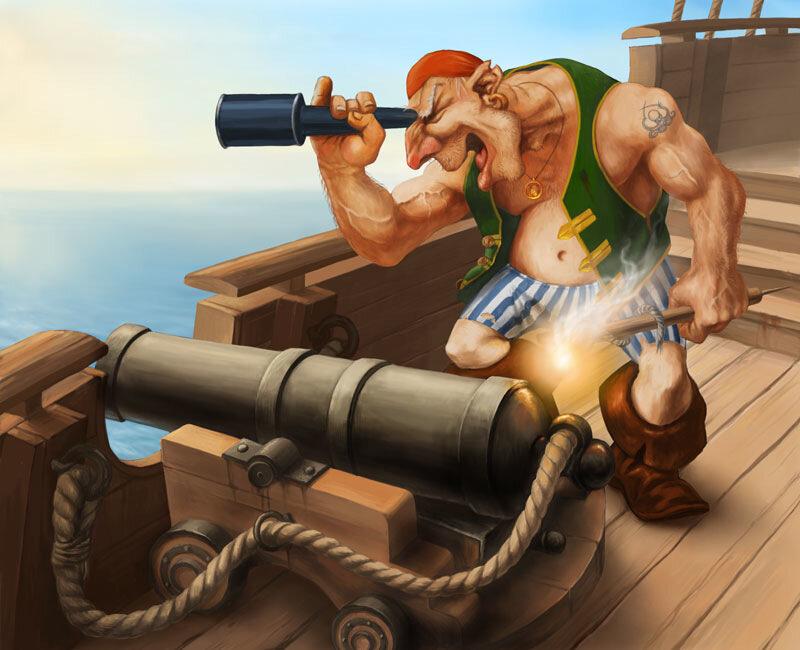 Смешная картинка про пиратов, поздравления годиком