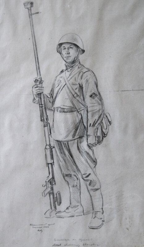 картинки карандашом военные