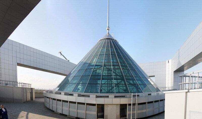 С крыши Северной башни  Московского сити