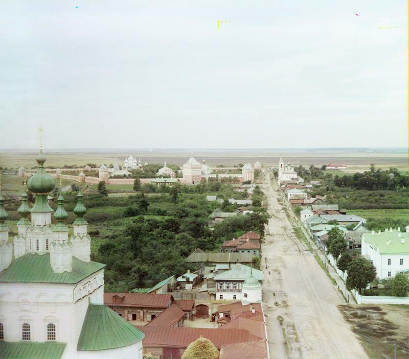 1912. Вид с колокольни Ризоположенского монастыря с юго-востока