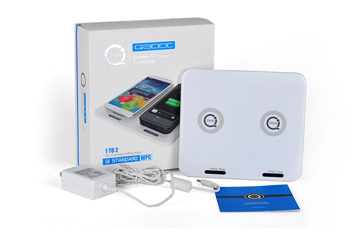 Универсальная беспроводная зарядка qi на 2 устройства Q300