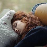на подушке