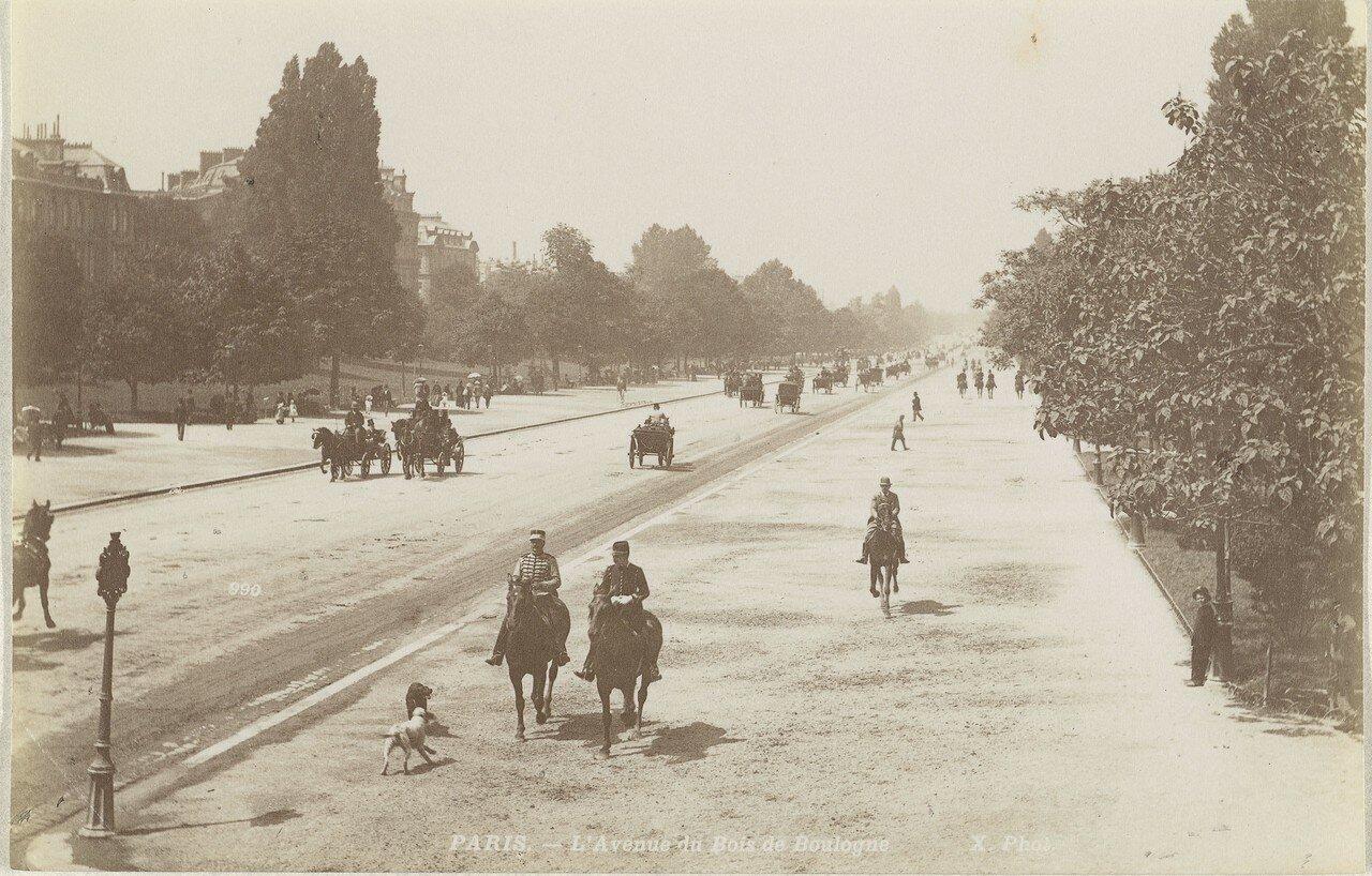 1870-е. Авеню Булонский лес