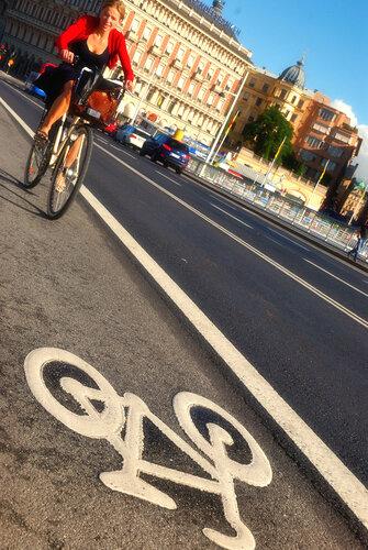 Стокгольм. Велосипедная дорожка