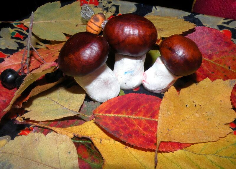Работы грибы своим руками для детей
