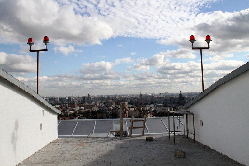 С крыши дома на беговой