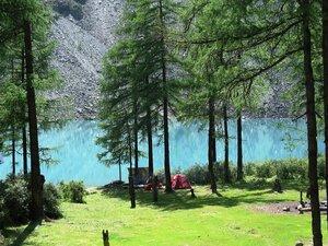 Наш базовый лагерь на берегу Шавлинского озера