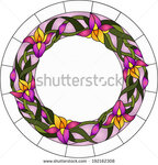 stock-vector-beautiful-garden-flowers-and-bouton-of-iris-floral-vector-circle-192162308.jpg