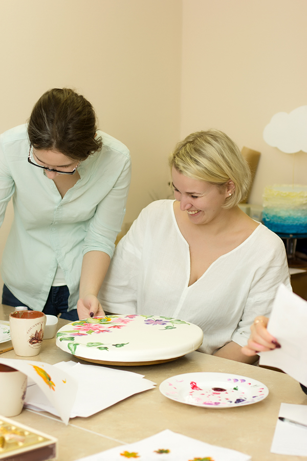 роспись торта обучение