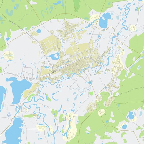 Карта кургана с улицами и номерами