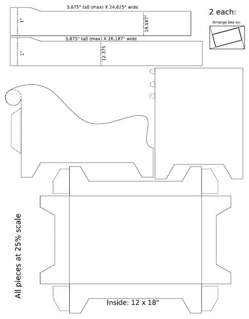Мебель для кукол (чертежи) / Кукольная мебель своими руками 34