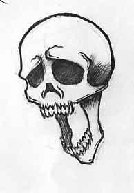 Рисунки карандашом черепа пошагово