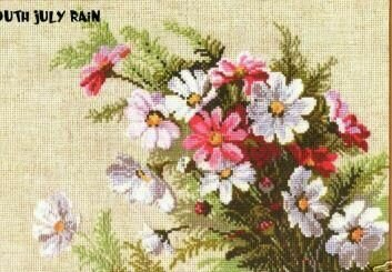 pansy embroidered pictures