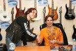 С великим маэстро гитары-Стивом Ваем(Steve Vai),Москва,2006