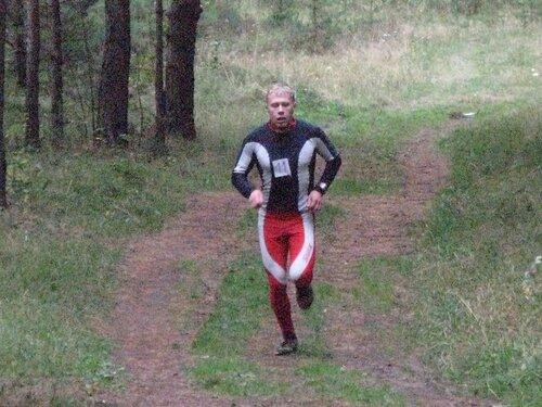 Николай Крючков на легкоатлетическом кроссе