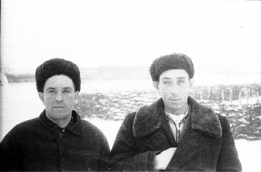 Трескино. 1964 год. Петр Иванович Агапов  и  Борис Иванович Крылов