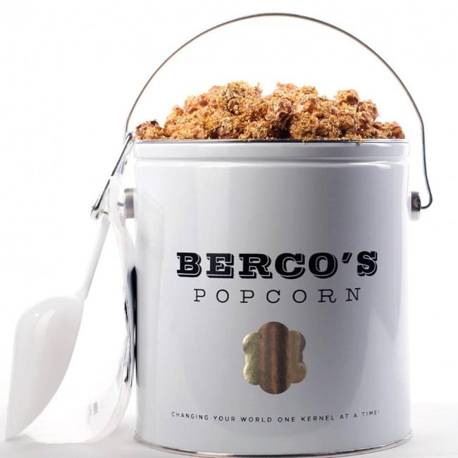 © Bercos Popcorn  Даже попкорн может стать элементом роскоши, если добавить золотистую крошку