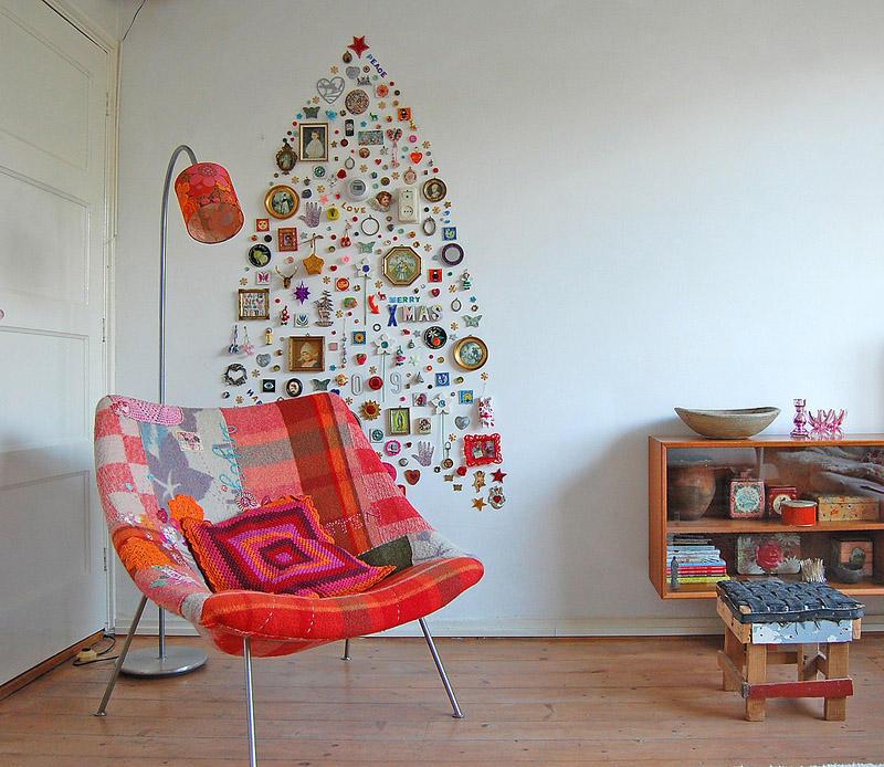 15. Новогоднее украшение на стену, которое можно не снимать весь год.