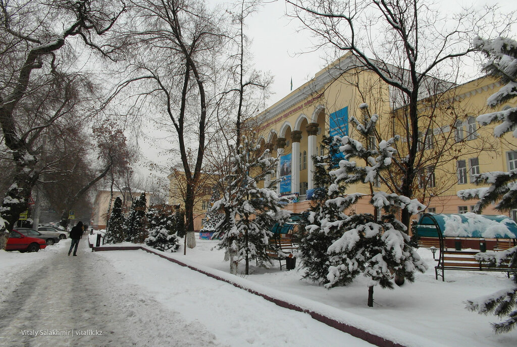 Здание ЖенПИ, Алматы.