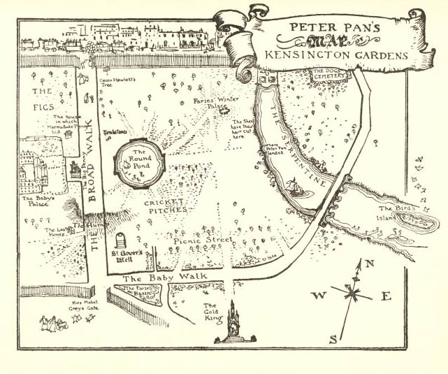 Peter Pan in the Kensington garden_plan