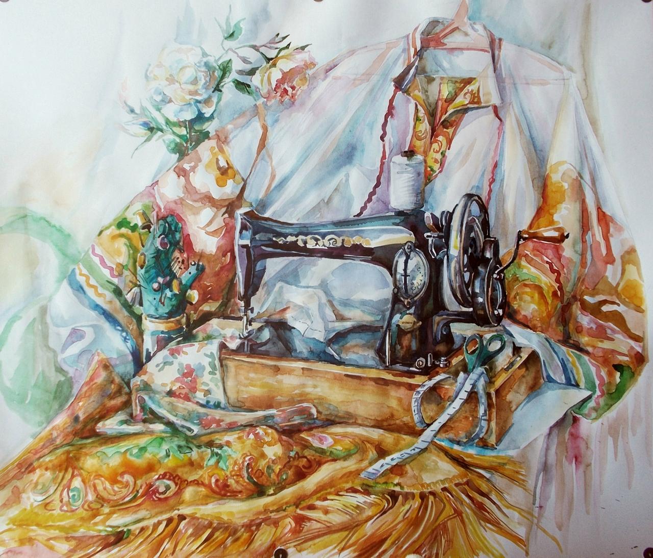 Натюрморт со швейной машинкой
