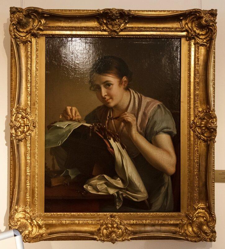 В.А.Тропинин. Кружевница, 1823 год. Музей В.А.Тропинина, Москва