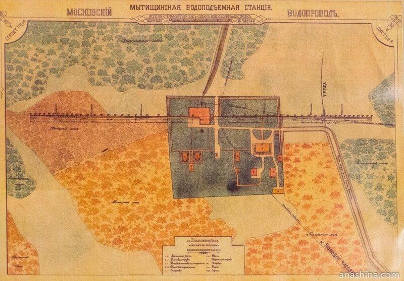 Чертеж-план водосборов и построек, 1890 год