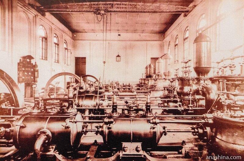 Машинный зал Мытищинской насосной станции, 1890 год