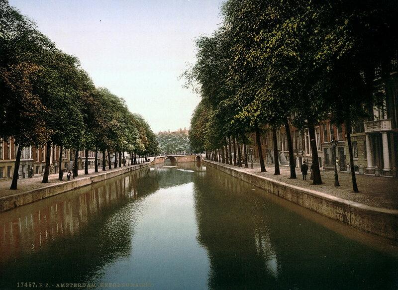 канал Херенграхт в конце XIX века