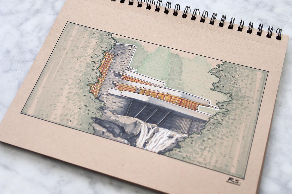 Architecture Concepts – Les magnifiques sketchbooks de Reid Schlegel