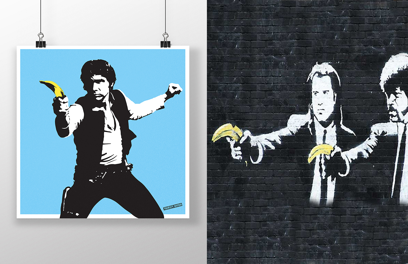 Bansky Turned into Star Wars by Thirsty Bstrd (16 pics)